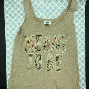 """Old navy """"meant to be"""" tank top"""